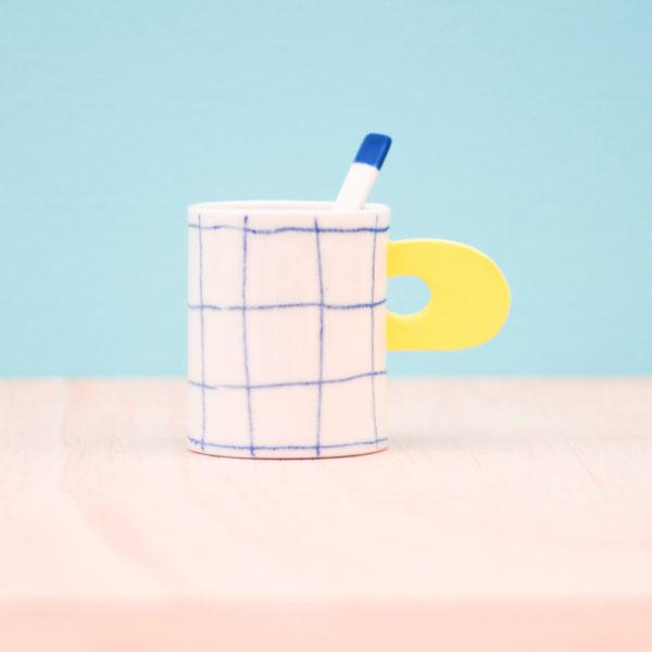 Eric Hibelot - tasse café en porcelaine